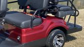 2021 Advanced EV 6 Passenger Burgundy Street Legal Golf Cart Rear side view