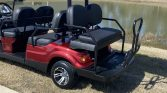 2021 Advanced EV 6 Passenger Burgundy Street Legal Golf Cart Side rear view