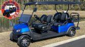 Blue Club Car Made In the USA