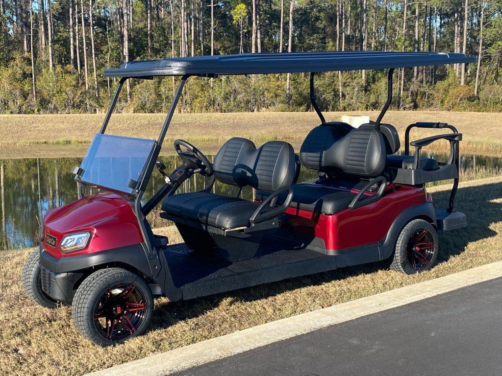 Custom Cub Car Ruby Red 6 Passenger Street Legal Golf Cart