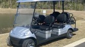 2021 Advanced EV 4+2 Silver 6 Passenger Street Legal Golf Cart with Black Seats